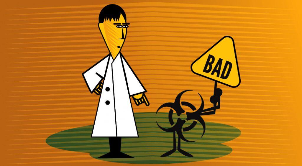 photo of bad lab signage