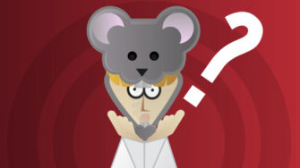 work life balance as a researcher, cartoon of a scientist turning into a lab rat