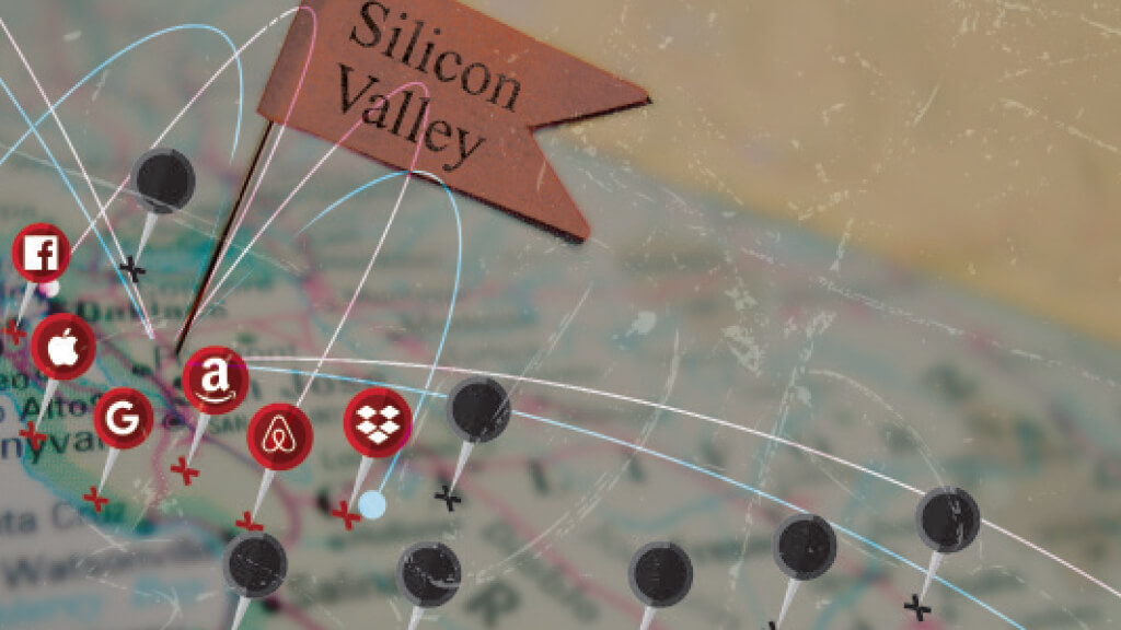 silicon valley map illustration